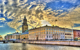 Gothenburg city hall and the German Church - Sweden royalty free stock photo