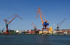 Gothenburg docks Stock Image