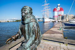 Gothenburg-Hafen Lizenzfreies Stockbild