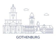 Gothenburg Le costruzioni più famose della città Fotografia Stock