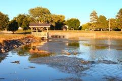 Gothenburg Nebraska jezioro Helen zdjęcia royalty free