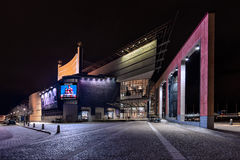 Gothenburg Opera House during the evening lighting Royalty Free Stock Photography