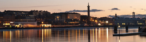 Gothenburg par nuit Image stock