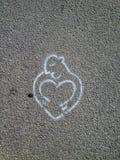 Gothenburg. Street art in Göteborg heart Stock Photography