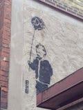 Gothenburg. Streetart Göteborg boy with a baloone Royalty Free Stock Photos