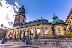 Gothenburg, Svezia - 14 aprile 2017: Chiesa tedesca di Gothenburg Fotografia Stock