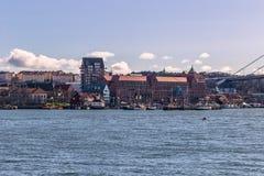 Gothenburg, Svezia - 14 aprile 2017: Panorama della costa Go Fotografia Stock
