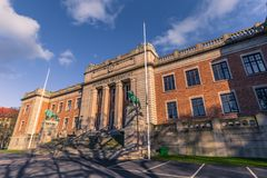 Gothenburg, Svezia - 14 aprile 2017: Università di Gothenburg, S Immagini Stock Libere da Diritti