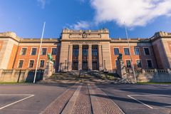 Gothenburg, Svezia - 14 aprile 2017: Università di Gothenburg, S Fotografie Stock