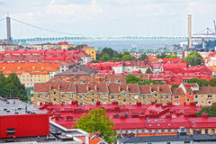 Gothenburg Sweden. The busy colorful port of Gothenburg, Sweden Royalty Free Stock Image