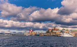 Gothenburg, Sweden - April 14, 2017: Panorama of the coast of Go Stock Images