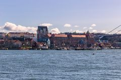 Gothenburg, Sweden - April 14, 2017: Panorama of the coast of Go Stock Photography