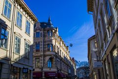 Beautiful old houses in Gothenburg, Sweden. royalty free stock photography