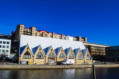 Feskekorka The Fish Church, a fish and seafood market in Gothenburg. stock photo