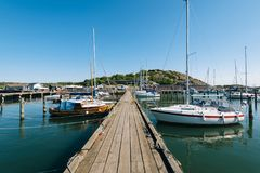 Gdansk Marina, Poland. GOTHENBURG, SWEDEN - May 18, 2018: Sailboats and yahts at the Gothenburg Marina in Sweden Royalty Free Stock Photography