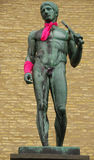 Gothenburg (Sweden) - Statues wrapped in pink Royalty Free Stock Images