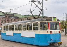 Gothenburg-Tram-Auto Stockfoto