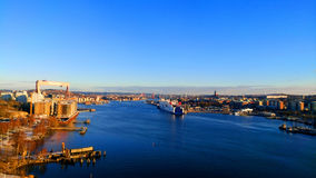 Gothenburg Viewed from the bridge. Stock Photo