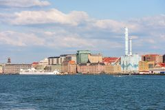 Gothenburg from the water Royalty Free Stock Photo
