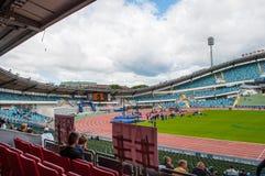 Gothenburg youth games athletics competition on Nye Ullevi Stadium. Gothenburg Sweden - June 30. 2013: Gothenburg youth games athletics competition on Nye Ullevi Royalty Free Stock Photos