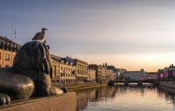 Gothenburg, Zweden - Augustus 23, 2017: Mooie de Zomerscène van Stock Foto