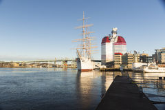 GOTHENBURG, ZWEDEN - DECEMBER 13, 2015: Het schip Barken Viking, Stock Fotografie