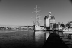 GOTHENBURG, ZWEDEN - DECEMBER 13, 2015: Het schip Barken Viking, stock foto's