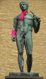Gothenburg (Zweden) - Standbeelden in roze worden verpakt dat royalty-vrije stock afbeeldingen