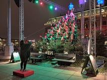 Gothia Show Chorus sing the Christmas song in Gothenburg, Sweden Stock Photo