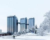 Gothia Towers Hotel, Gothenburg, Sweden. Royalty Free Stock Photography
