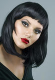 Gothic. Beautiful Girl with Gothic make-up. Close-up Image Royalty Free Stock Image