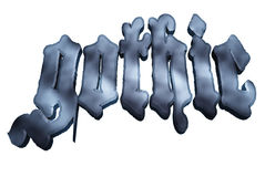 Gothic. A 3D image of the word Gothic Royalty Free Stock Photos