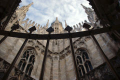 Gothic adornment on church in Milano Stock Photography