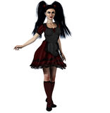 Gothic Alice. A Goth interpretation of Alice in Wonderland Royalty Free Stock Images