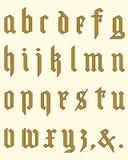 Gothic alphabet Stock Photos