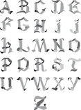 Gothic alphabet Royalty Free Stock Images