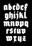 Gothic alphabet font. Royalty Free Stock Images