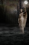 Gothic Angel Moon. A premade background for artists and designers to use in their artwork Stock Image