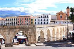 Gothic aqueduct in Sulmona, Italy Royalty Free Stock Photo