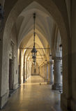 Gothic arcades in Cloth Hall in Krakow, Poland Royalty Free Stock Images
