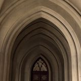 Gothic arch in the cathedral Royalty Free Stock Photo