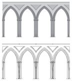 Gothic arch and column Royalty Free Stock Photography