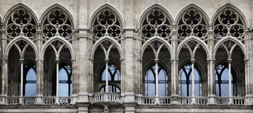 Gothic arch. Detail of the City Hall, Vienna Stock Photography