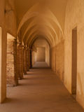 Gothic arched gallery, Seville Royalty Free Stock Images