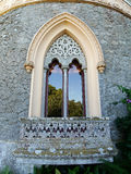 Gothic arched window in the castle.