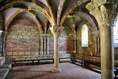Gothic Arches. Arches in the Cloisters in New York City stock image