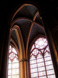 Gothic arches. In the church of Notre Dame, in Paris, France Stock Photography