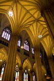 Gothic Arches. In St Patrick's Cathedral in New York City Royalty Free Stock Image