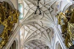 Gothic Arches Of Christian Church Interior City Segovia Fam Stock Photography