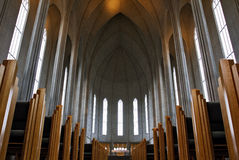 Gothic arches of Reykjavík Cathedral, Iceland Stock Image